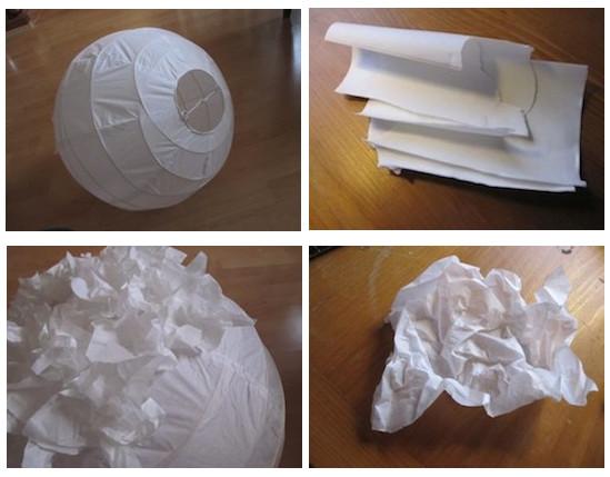 Em rita desastre l mparas de papel for Papel pintado imitacion periodico