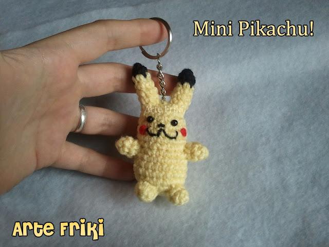 mini pikachu amigurumi pokemon plush peluche muñeco tejido ganchillo crochet chibi hecho a mano