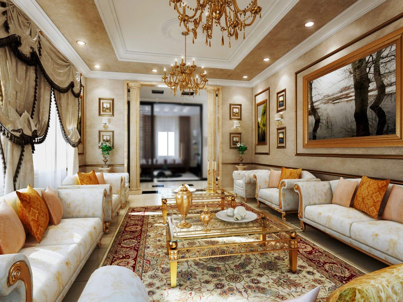 Arsitektur Ruang Tamu Klasik Modern