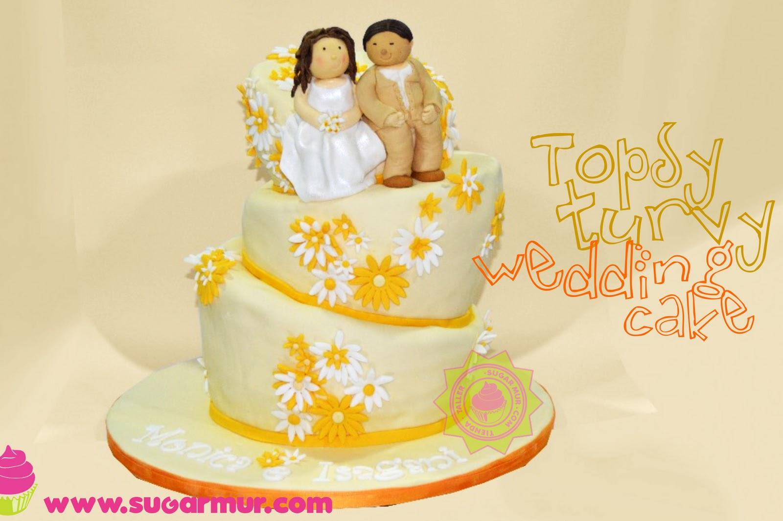 Topsy Turvy Wedding Cake | Sugar Mur