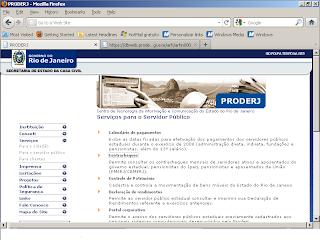 site do PRODERJ
