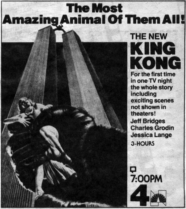space1970 king kong 1976 tv guide ad
