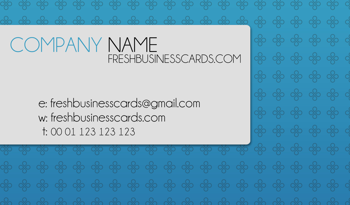 WHATEVER: Name Card Design Sample