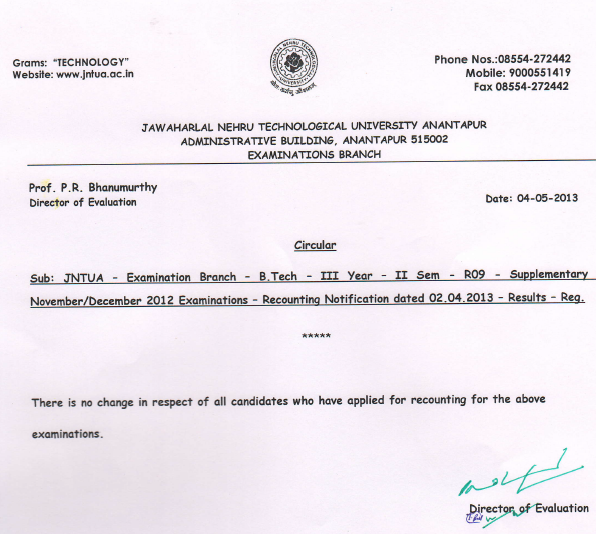 jntua btech rc results