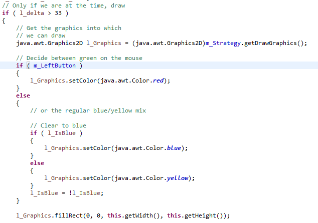 How to write a java game