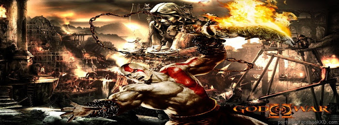 Kratos, god of war, imagen de portada para facebook