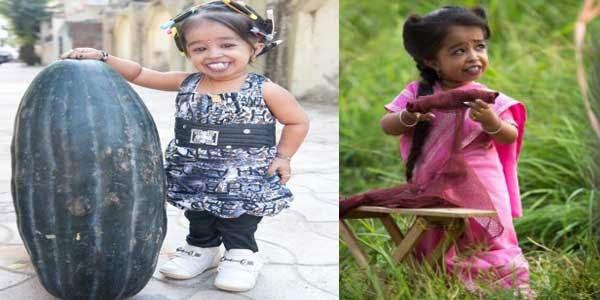 Jyoti Amge wanita dengan bentuk fisik teraneh di dunia pemilik tubuh terpendek