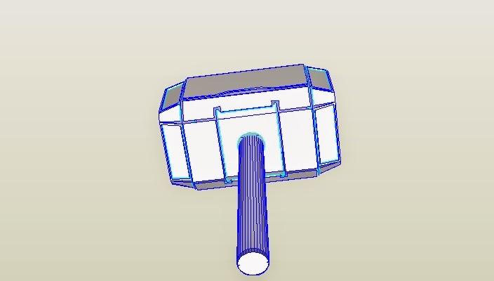 dali lomo thor hammer mjölnir cardboard diy free template