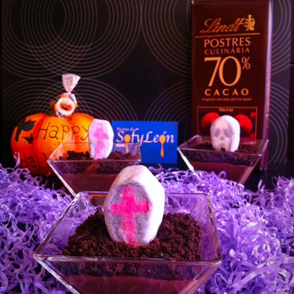 Tumbas de chocolate para Halloween.