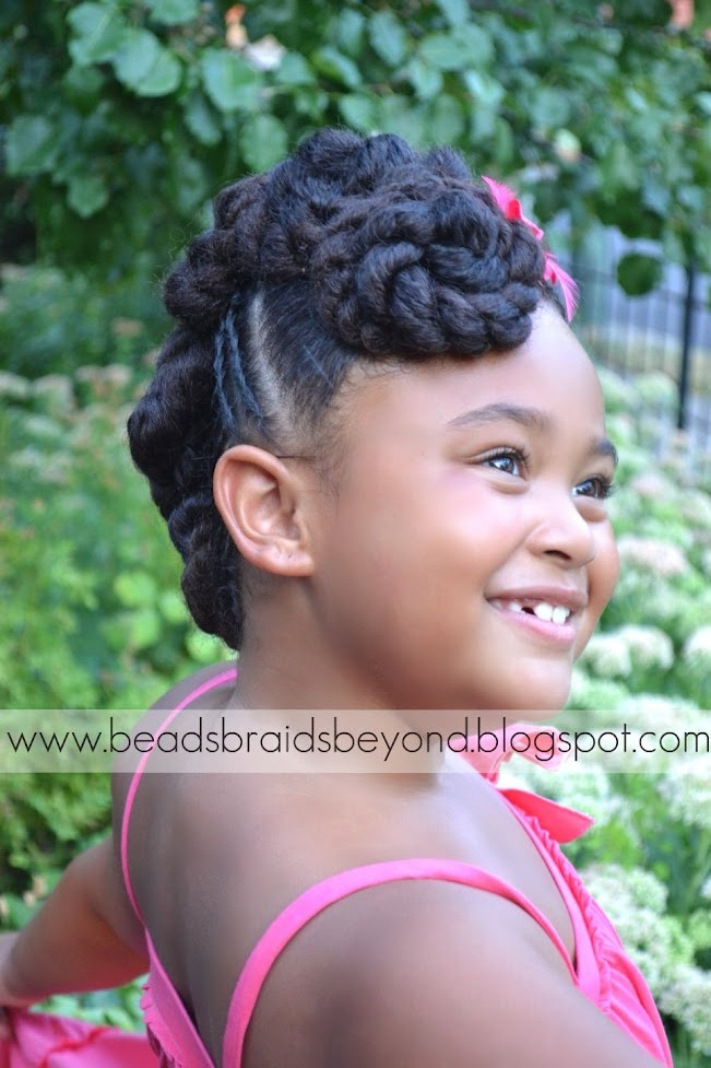 Beads Braids And Beyond Natural Hair Updo Twisted Cinnabuns With