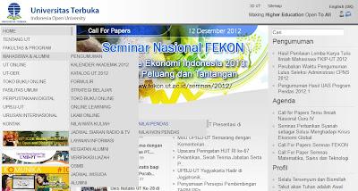 Melihat Nilai Hasil Ujian UT Universitas Terbuka Online di www.ut.ac.id