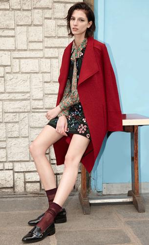 Zara colección otoño invierno mujer abrigo vestido bordado camisa estampada