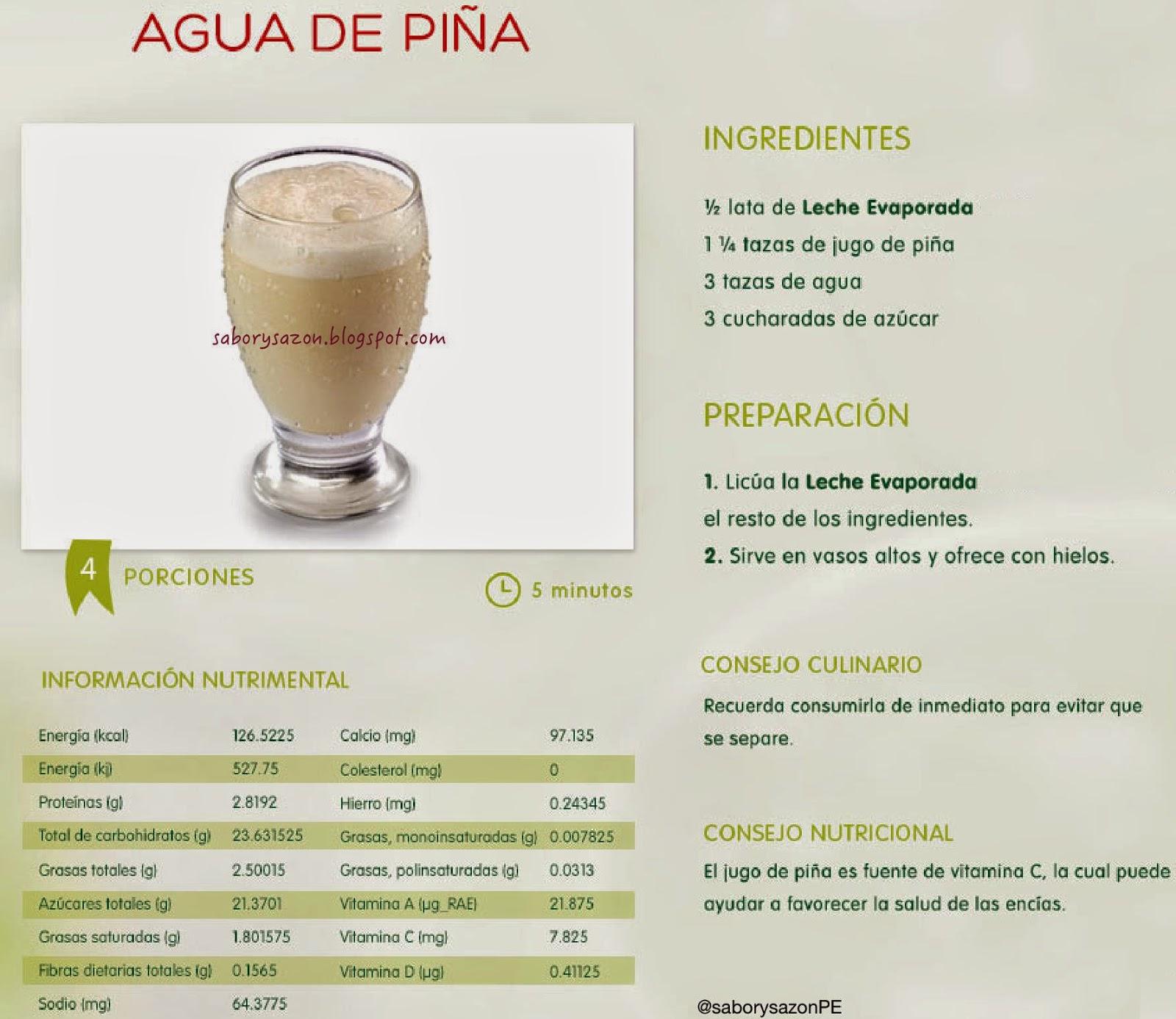 AGUA DE PIÑA - BEBIDAS REFRESCANTES PARA VERANO - recetas caseras