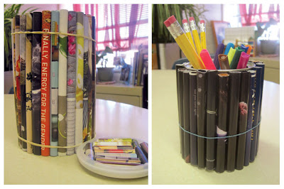 Pencil holder from Recycled Materials