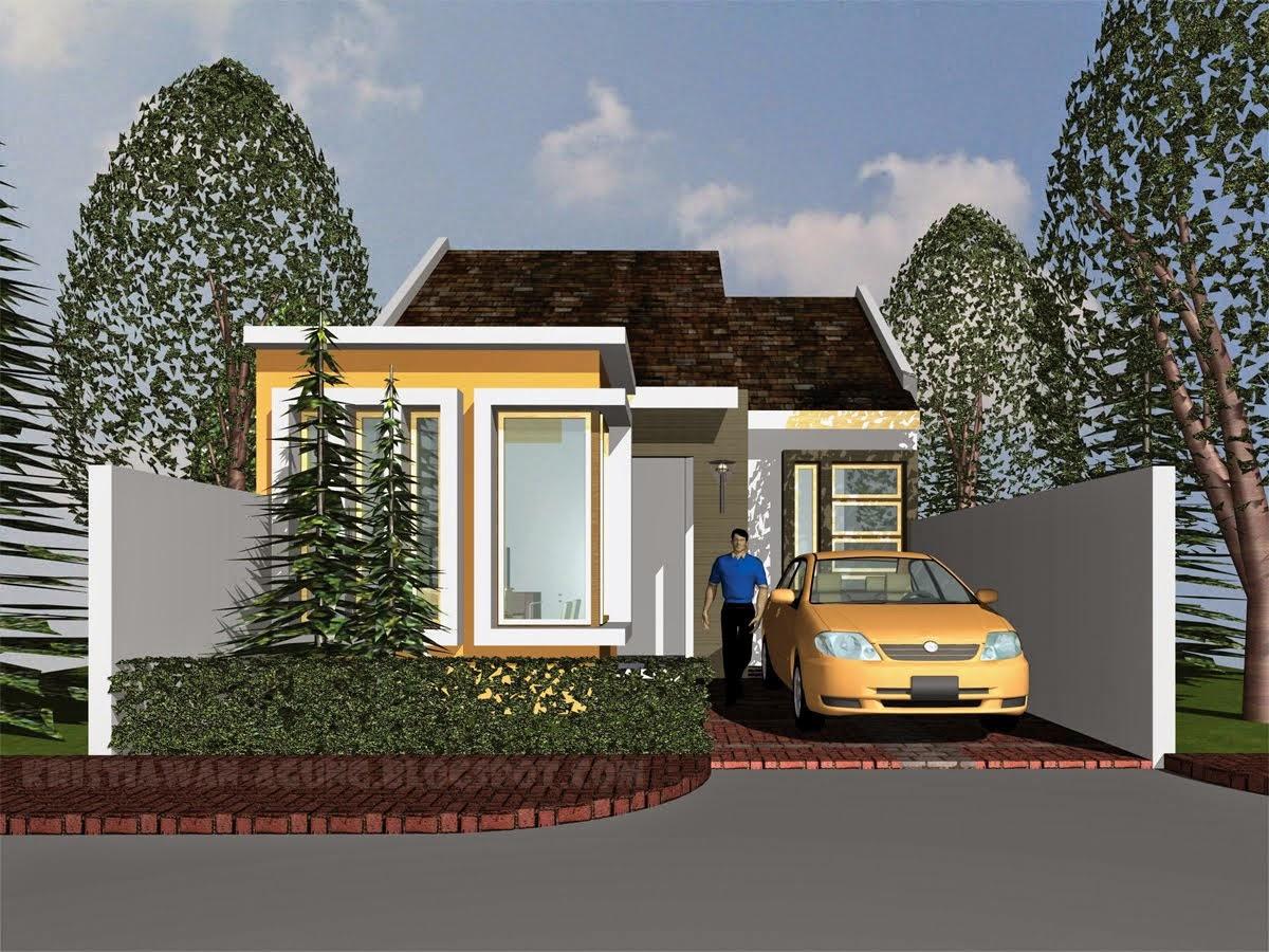 Gambar Desain Rumah Minimalis Tampak Depan