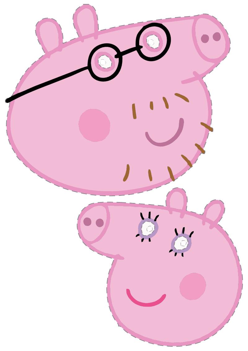 Máscaras para festa da Peppa Pig e Backyardigans para ...