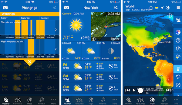 Weather Pro app for iphone