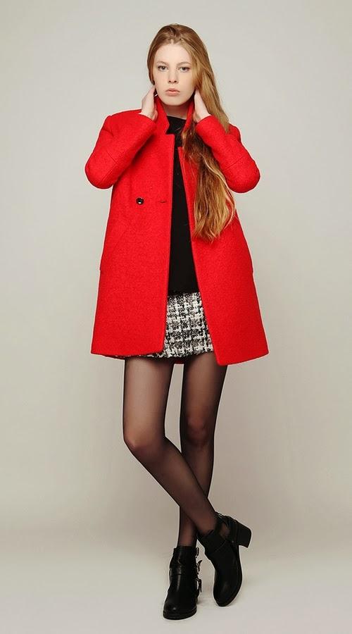 Luxe Scarlet Rosalin Preppy Coat
