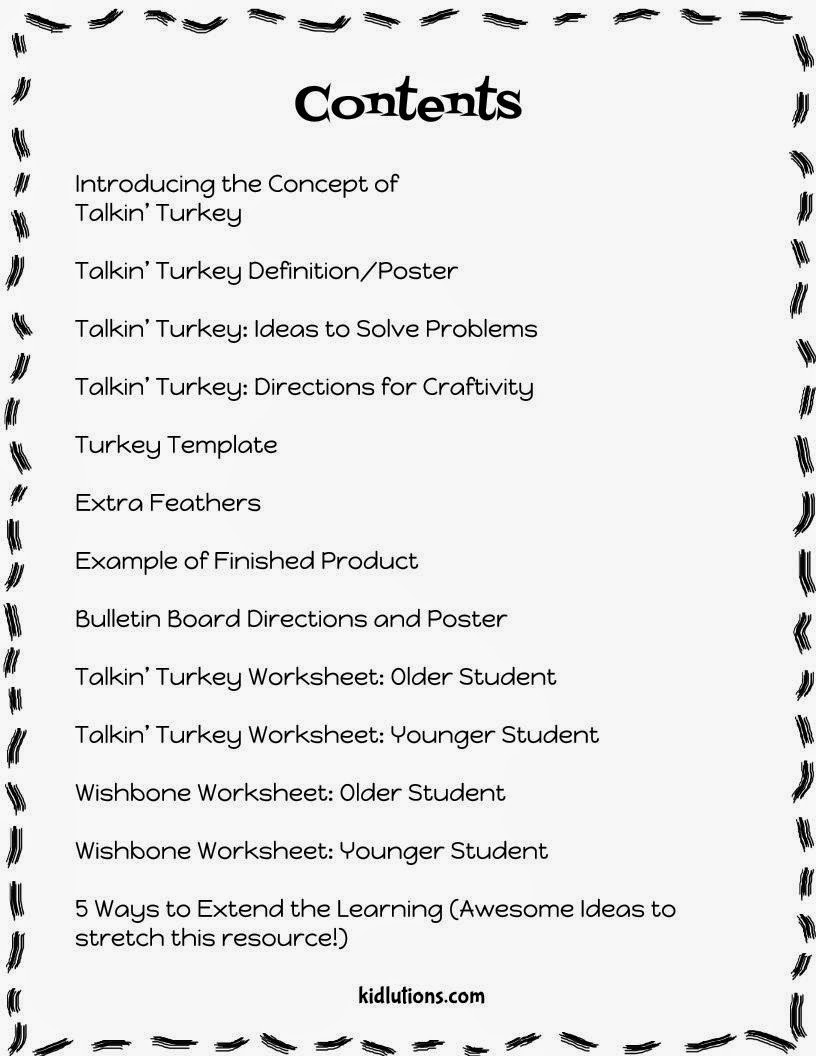 Worksheets Conflict Resolution Worksheets For Kids conflict resolution for kids talkin turkey heres what you get