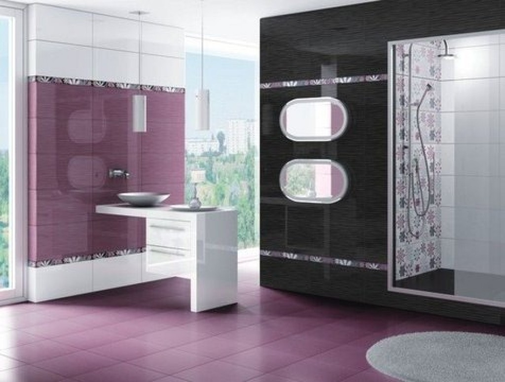 for Purple and yellow bathroom ideas