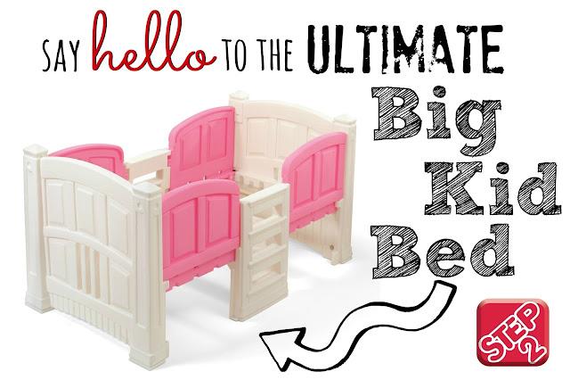Step2 Loft & Storage Twin Bed, Step2 Bed giveaway, Step2 Test drive blogger, best big kid bed