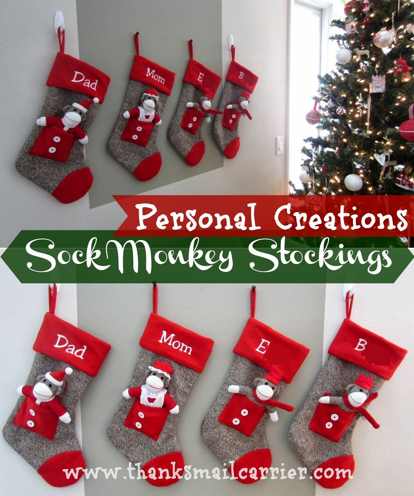 Sock Monkey Stockings