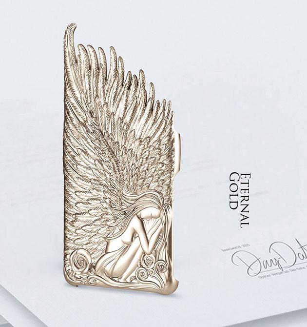 เคส Note 4 Angel Wings 144067 สีทอง