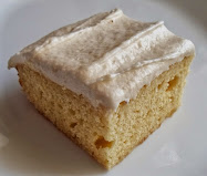 """8"""" yellow cake with banana butter frosting"""