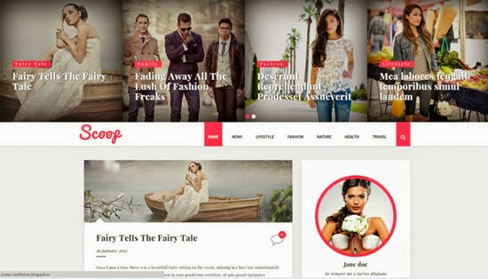 SCOOP FASHION BLOGGER TEMPLATE