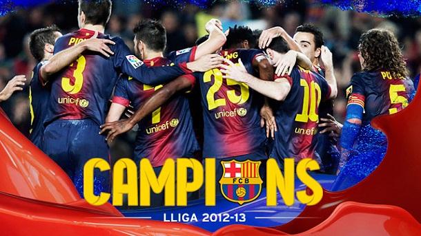FC Barcelona  Campe  N De Liga 2012 2013