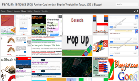 Tampilan Dynamic Template Blog