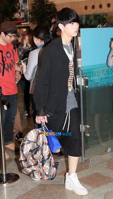 BEAST Junhyung MCM bag
