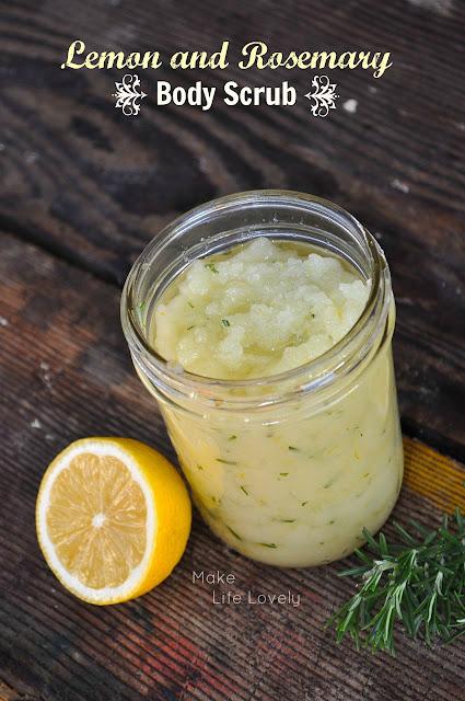 DIY Lemon and Rosemary Body Scrub - Make Life Lovely
