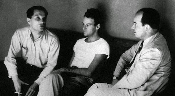 Left to right: Stanislaw Ulam, Richard Feynman, John von Neumann