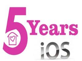 5 Years of iOS logo