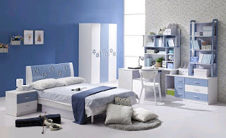 Grey and blue bedroom ideas