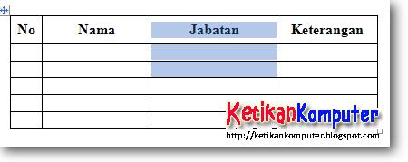 blok tabel