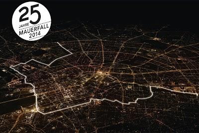 25° Anniversario della caduta del Muro di Berlino Foto Aerea