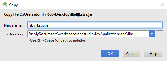 how to create jar file in android studio