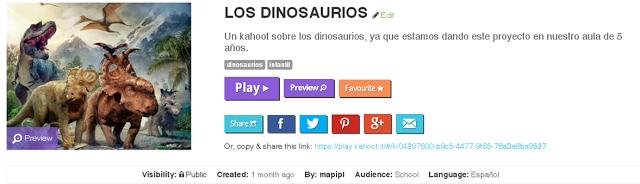Kahoot de dinosaurios