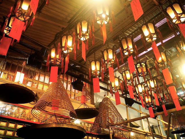 Lanterns & incense in Man Mo Temple, Sheung Wan, Hong Kong