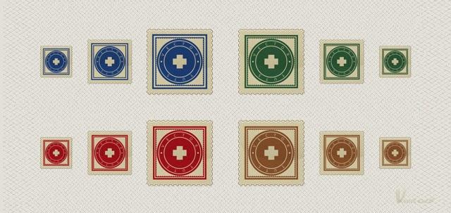 A Vector Stamp Set in Illustrator