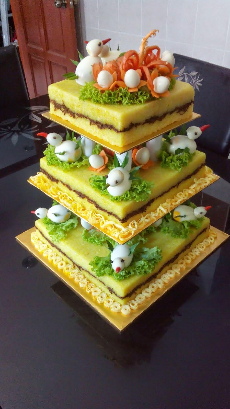 Pulut Kuning Bertingkat Perkahwinan