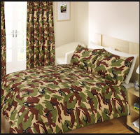 Double Bed Cover Bedding Set Army Camouflage Green