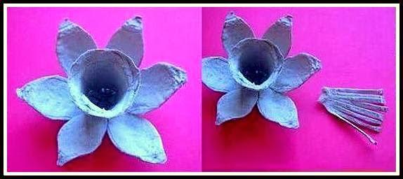 Cara-cara Membuat Bunga Hiasan Dari Bekas Telur