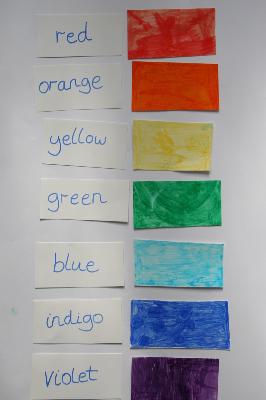 create with your hands rainbow colours scavenger hunt