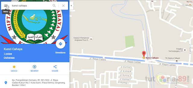 Cara terbaru memasang peta google map di blog