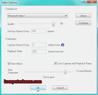 Setting custom video camstudio