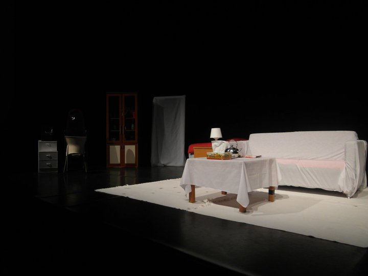 The main set for the play. Props to the props guys!