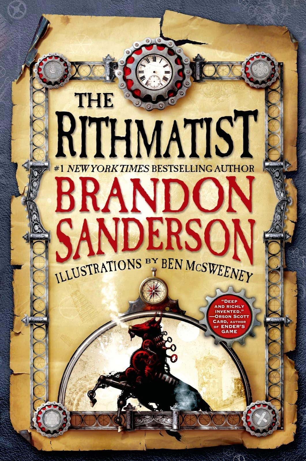 Book cover: The Rithmatist by Brandon Sanderson